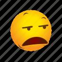 bleh, bored, boring, emoticon icon