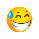 embarassed, emoticon icon