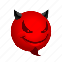 emoticon, evil, smile icon