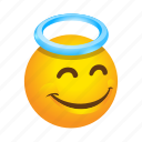 benevolent, emoticon, good, smile icon