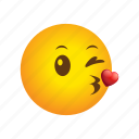 emoticon, kiss, little icon