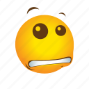 emoticon, happens, shit, yikes icon