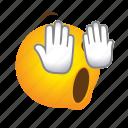 emoticon, fear, fearful, horror, shocking icon