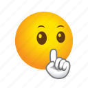 emoticon, silence icon