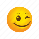 blink, emoticon, smile icon