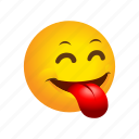 emoticon, folling, fool, out, playful, tongue icon