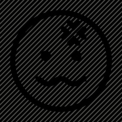 Emoji Emoticon Face Headache Like Sick Icon