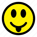 emoticon, emotion, expression, face, happy, smile, smiley icon