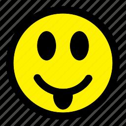 emoticon, emotion, expression, face, happy, smile, smiley icon
