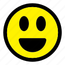 emoticon, emoticons, emotion, expression, happy, smile, smiley icon