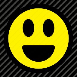 emoticon, emoticons, emotion, expression, happy, smile, smiley icon