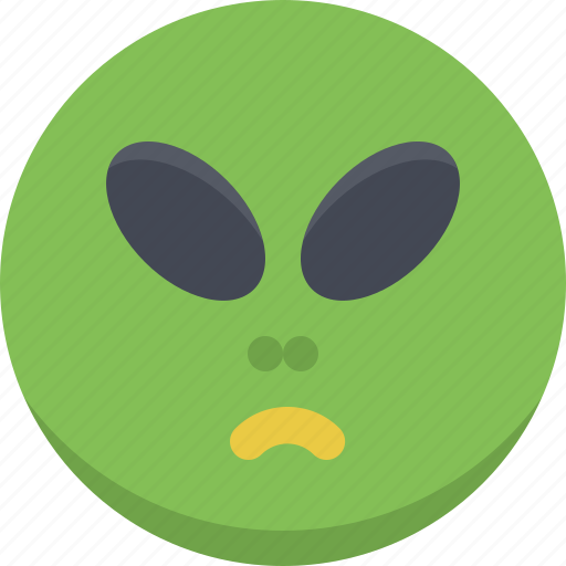 alien, emoticon, emotion, expression, monster, scary, smiley icon