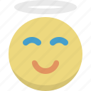 angel, emoticon, emotion, expression, god, smiley, spirit icon