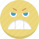 angry, emoticon, emotion, expression, nervous, smiley icon