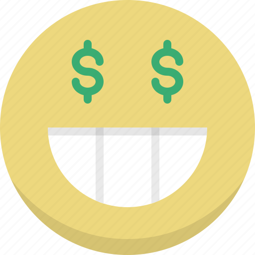 capitalist, emoticon, emotion, expression, happy, rich, smiley icon