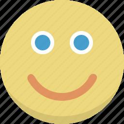 emoticon, emotion, face, happy, person, smile, smiley icon