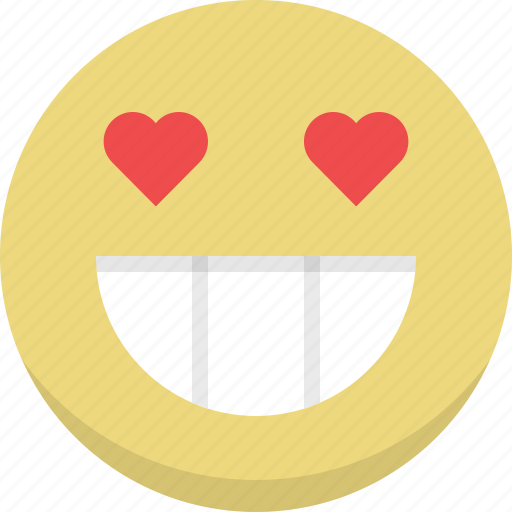 emoticon, emotion, expression, love, romantic, smiley, valentines icon