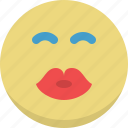 emoticon, emotion, expression, kiss, love, romantic, smiley icon
