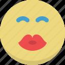 emoticon, emotion, expression, kiss, love, romantic, smiley icon