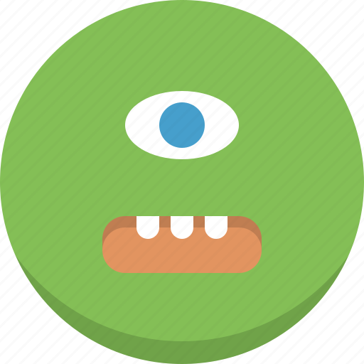 alien, emoticon, emotion, expression, monster, smiley icon