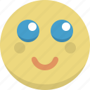 emoticon, emotion, expression, innocent, shy, smiley icon