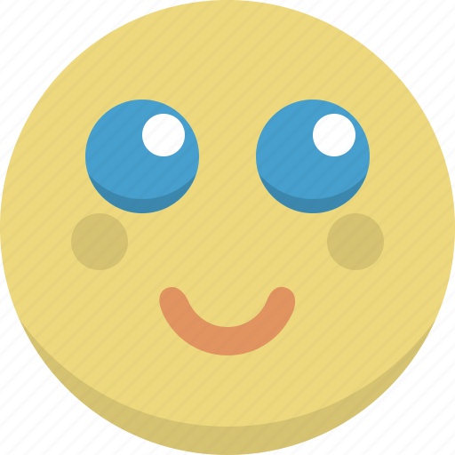 emoticon, emotion, expression, innocent, shy, smiley icon