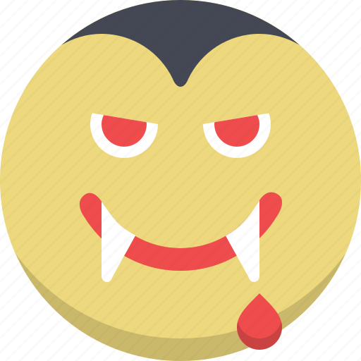 dracula, emoticon, emotion, expression, scary, smiley, vampire icon