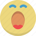 emoticon, emotion, sleep, sleepy, smiley, sweet dreams, yawn icon