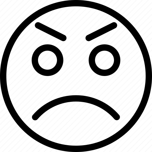 angry, animation, bad, bad-mood, chat, creative, email, emoticon, expression, facial, facial-expression, grid, line, mail, messages, mobile, mood, round, scold, shape, smiley, tense, web icon