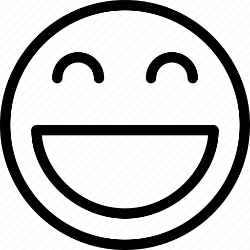 animation, chat, creative, email, emoticon, expression, facial, facial-expression, good-mood, grid, happy, joy, line, mail, messages, mobile, round, shape, smile, smiley, web icon