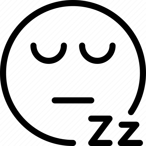animation, chat, creative, dream, email, emoticon, expression, eyes, eyes-close, facial, facial-expression, grid, line, mail, messages, mobile, round, shape, sleep, sleeping, smiley, snore, web icon