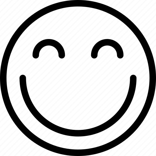 animation, chat, creative, email, emoticon, expression, facial, facial-expression, good-mood, grid, happy, line, mail, messages, mobile, round, shape, smile, smiley, web icon