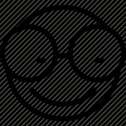 animation, chat, creative, email, emoticon, expression, eye, eyeglasses, eyeglasses-smiley, eyewear, facial, facial-expression, glasses, grid, line, mail, messages, mobile, round, shape, smile, smiley, specs, web icon