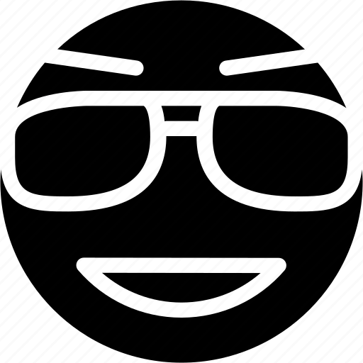 animation, chat, cool, creative, email, emoticon, expression, eyewear, facial, facial-expression, glasses, grid, happy, mail, messages, mobile, round, shape, smile, smiley, style, sun, sunglasses, web icon
