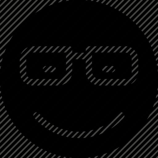 animation, chat, creative, email, emoticon, expression, eye, eye-wear, eyeglasses, eyeglasses-smiley, facial, facial-expression, glasses, grid, mail, messages, mobile, round, safety, shape, smile, smiley, specs, web icon