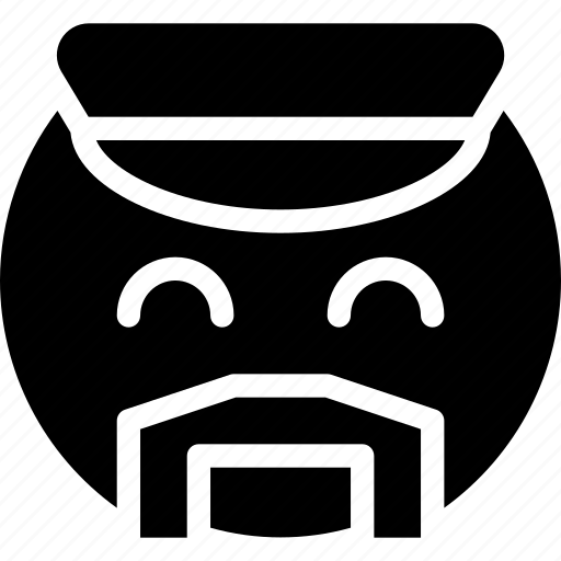 animation, cap, carefree, chat, creative, email, emoticon, expression, facial, facial-expression, gay, grid, mail, male, messages, mobile, moustache, round, shape, showy, smiley, web icon