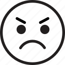 angry, emoticons, emotion, expression, face, sign, smiley icon