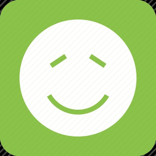expression, man, person, shame, shi, shy, smile icon