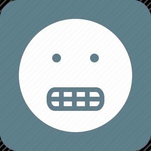 angry, cartoon, funny, grin, lips, teeth, tooth icon