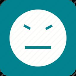 angry, emotion, expression, irritated, sad, stubborn, upset icon
