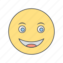 emoticon, face, happy, smiley icon