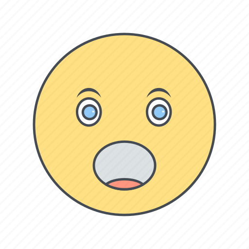 emoticon, face, surprised icon