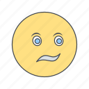 confused, emoji, emoticon, face icon
