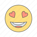 emoji, emoticon, face, love icon
