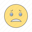 emoji, emoticon, face, nervous icon