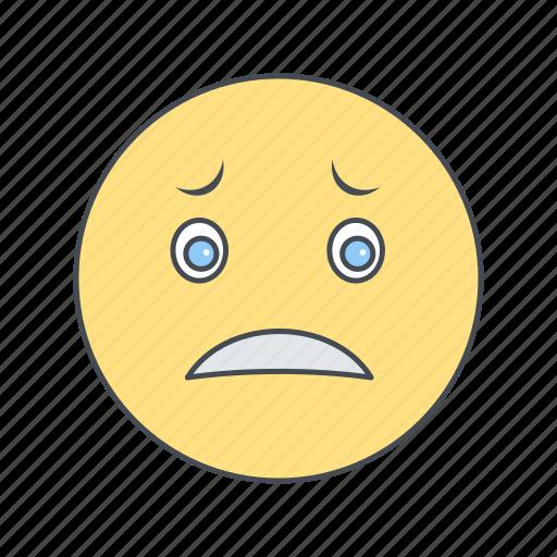 emoticon, face, nervous icon