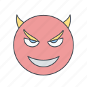 devil, emoji, emoticon, face icon
