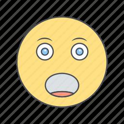 emoticon, face, shouting icon