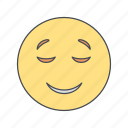 calm, emoji, emoticon, face icon