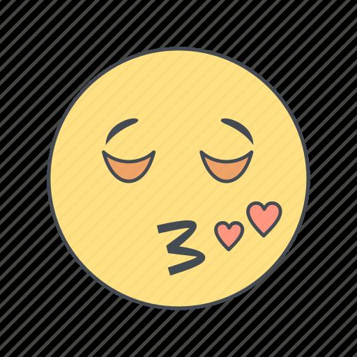emoticon, face, kiss icon